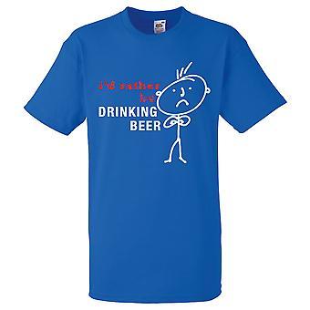 Mens jag skulle hellre dricka öl Royal Blue Tshirt