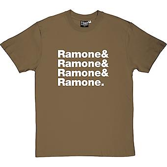 The Ramones Line-Up Military Green Men's T-Shirt