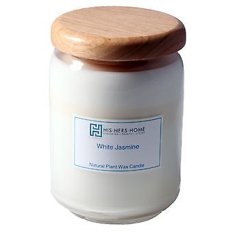 HisHersHome naturlige plante stort stort vokslys - hvid jasmin