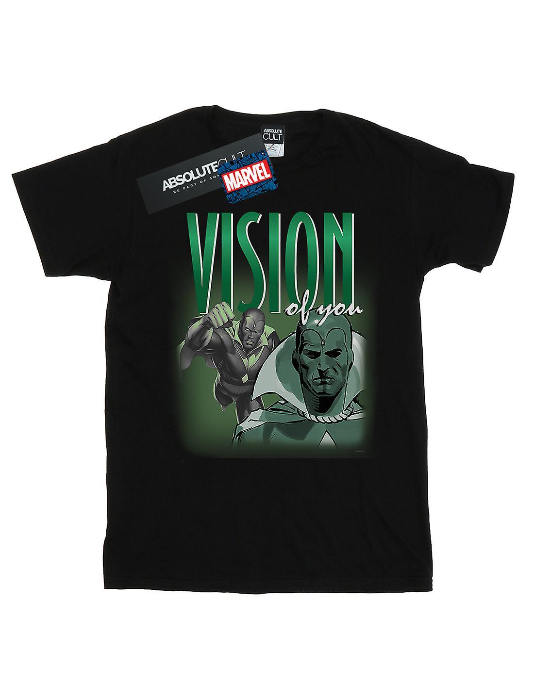 Marvel Women's Vision Homage Boyfriend Fit T-Shirt