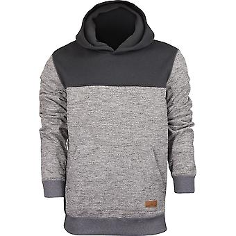 Quiksilver Mens Keller Block Polar Fleece Hoodie - Dark Gray Heather