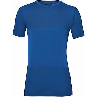 ASICS FuzeX бесшовные короткие Мужские работает фитнес рубашку сверху