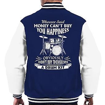 Lycka är en Drum Kit mäns Varsity jacka