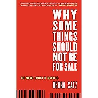 Miksi jotkut asiat pitäisi olla myynnissä: moraalisia rajoja Markets