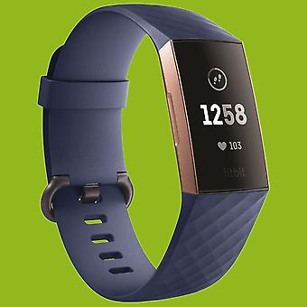 For Fitbit Charge 3 Plastic/Silicone Bracelet for Women/Size S Navy Blue Watch