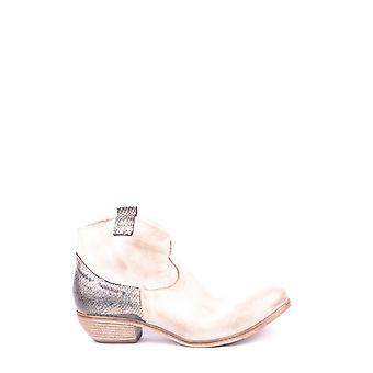 Savio Barbato Ezbc340002 Women's Beige Leather Ankle Boots