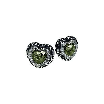 Belle Etoile Royale Heart Green Earrings 3020811003