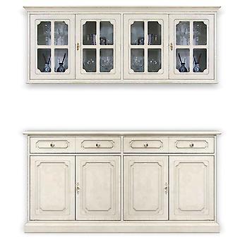 Cupboard 4 doors with cupboard cabinet