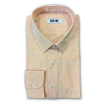 Ingram classic fit shirt in orange stripe pattern