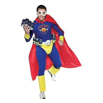 Mens Beer Man Superhero Stag Night Funny Group Fancy Dress Costume