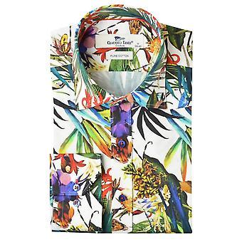 Claudio Lugli Tropical Palm Print Shirt Mens