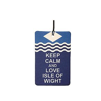 Keep Calm And Love Isle Of Wight Car Air Freshener