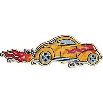 Patch - Automoblies - Yellow Hot Rod Iron On Gifts New Licensed p-3735