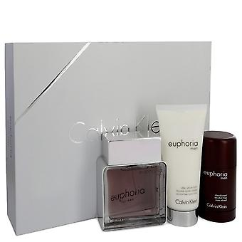 Calvin Klein Euphoria Regalo Set 100ml EDT + 100ml Aftershave Balm + 75g Deo Stick