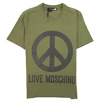 Love Moschino Peace camiseta Khaki/Negro