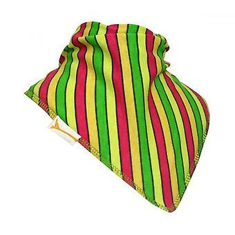 Gröna, gula & röda ränder bandana bib