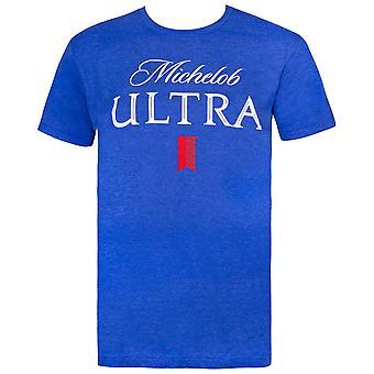 Michelob ULTRA bier logo mannen ' s blauw T-shirt