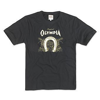 Olympia bier logo mannen zwart T-shirt