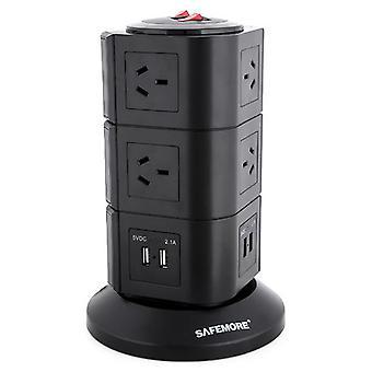 Safemore 3 livello Power Stackr Power Board in nero