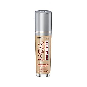 Rimmel London Lasting Finish Foundation Medium Coverage 25Hr SPF20 30ml Light Nude #102