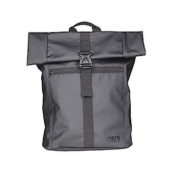 Urban Classics Folded Messenger Backpack Casual - 68 cm - 18 liters - Black (Black)