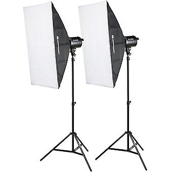 BRESSER BRM-300AM Studioblitz-Set 2x 300W