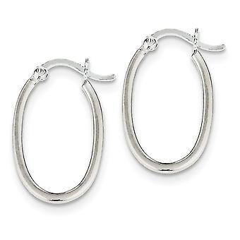 925 Sterling Silver Hollow Hinged Polished Hoop Boucles d'oreilles Bijoux Bijoux pour les femmes - 1,3 Grammes