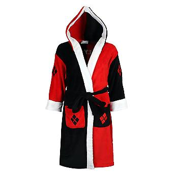 Batman Harley Quinn Hooded Fleece Bathrobe