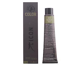 I.c.o.n. Ecotech kleur natuurlijke kleur #3.0 donker bruin 60 Ml Unisex