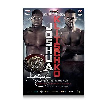 Anthony Joshua Signed Boxing Programme: Joshua vs Klitschko
