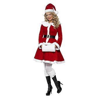 Womens Weihnachten Miss Santa Fancy Kleid Kostüm