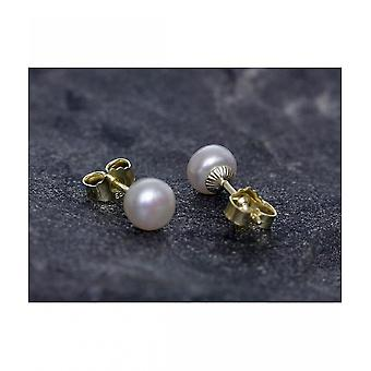 Luna-Pearls Eau douce Élevage de perles Studs 247066