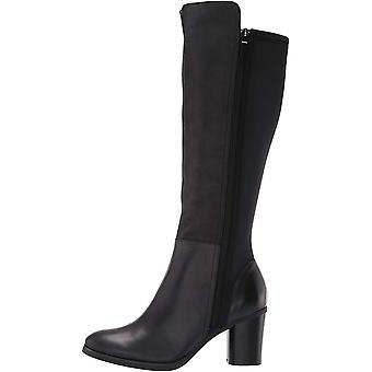 SoftWalk Womens Katia Leather Almond Toe Knee High Fashion Boots