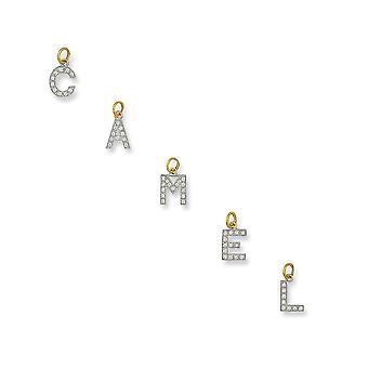 Ewigkeit 9ct Gold kleine zirkonia Initial C Anhänger