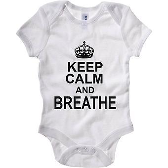 White newborn body wtc0025 keep calm and breathe