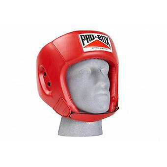 Pro box base spar boxing head guard - red