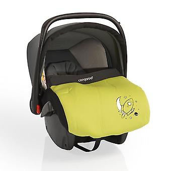 Child seat baby carrier Apollo group 0+ (0 to 13 kg) with sunroof, foot bag