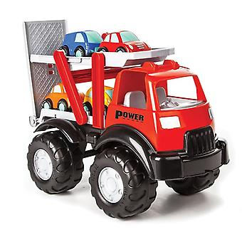 Pilsan Kinder Car transporter 06516, loading ramp, four small cars from 1 year