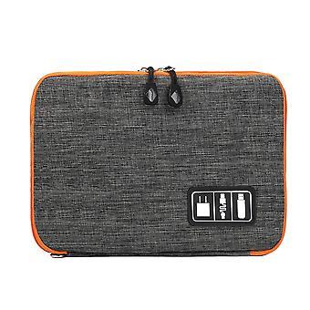 Bolsa para el almacenamiento de cables y accesorios electrónicos-Gris