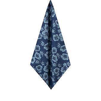 Dobell Herre blå grafisk blomster print lomme kvadrat