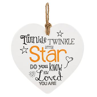 Shudehill Giftware From The Heart Plaque - Twinkle