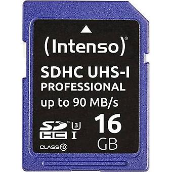 Intenso Professional SDHC card 16 GB klasse 10, UHS-jeg