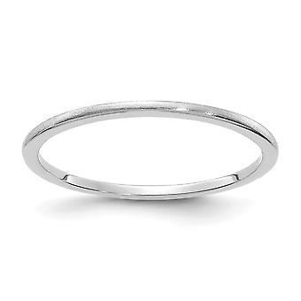 10kw 1.2mm Half Round Satin Stackable Band Ring Jewelry Gifts for Women - Ring Size: 4 to 10