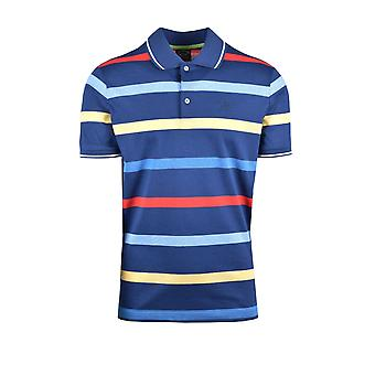 Paul & Shark Paul And Shark Polo Shirt Blue Multi Stripe