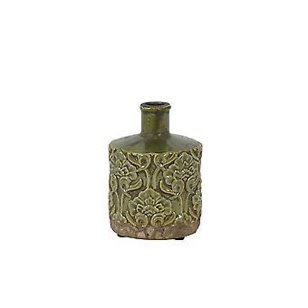 Light & Living Vase Deco 13.5x18cm Mezana Ceramics Green