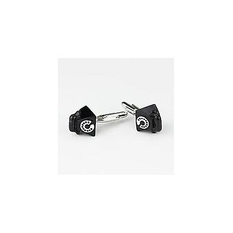 JSS Telephone Novelty Themed Mens Brass Steel Gift Wedding Cufflink