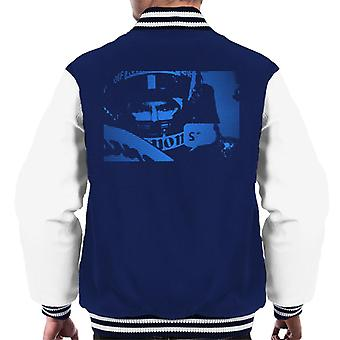 Motorsport Images Damon Hill Helmet Pop Art Men's Varsity Jacket
