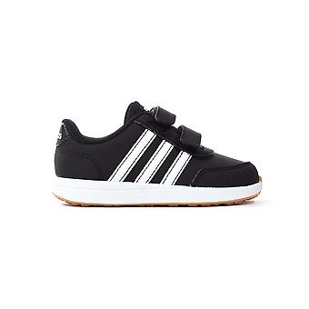 adidas VS Switch 2 Infant Kids Correa Entrenador Deportivo Zapato Negro/Blanco