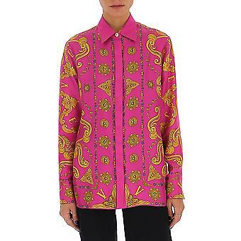 Versace A82662a232646a7230 Women's Fuchsia Silk Shirt