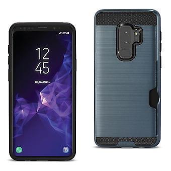 Reiko Samsung Galaxy S9 Plus Hybrid Case With Card Holder In Navy